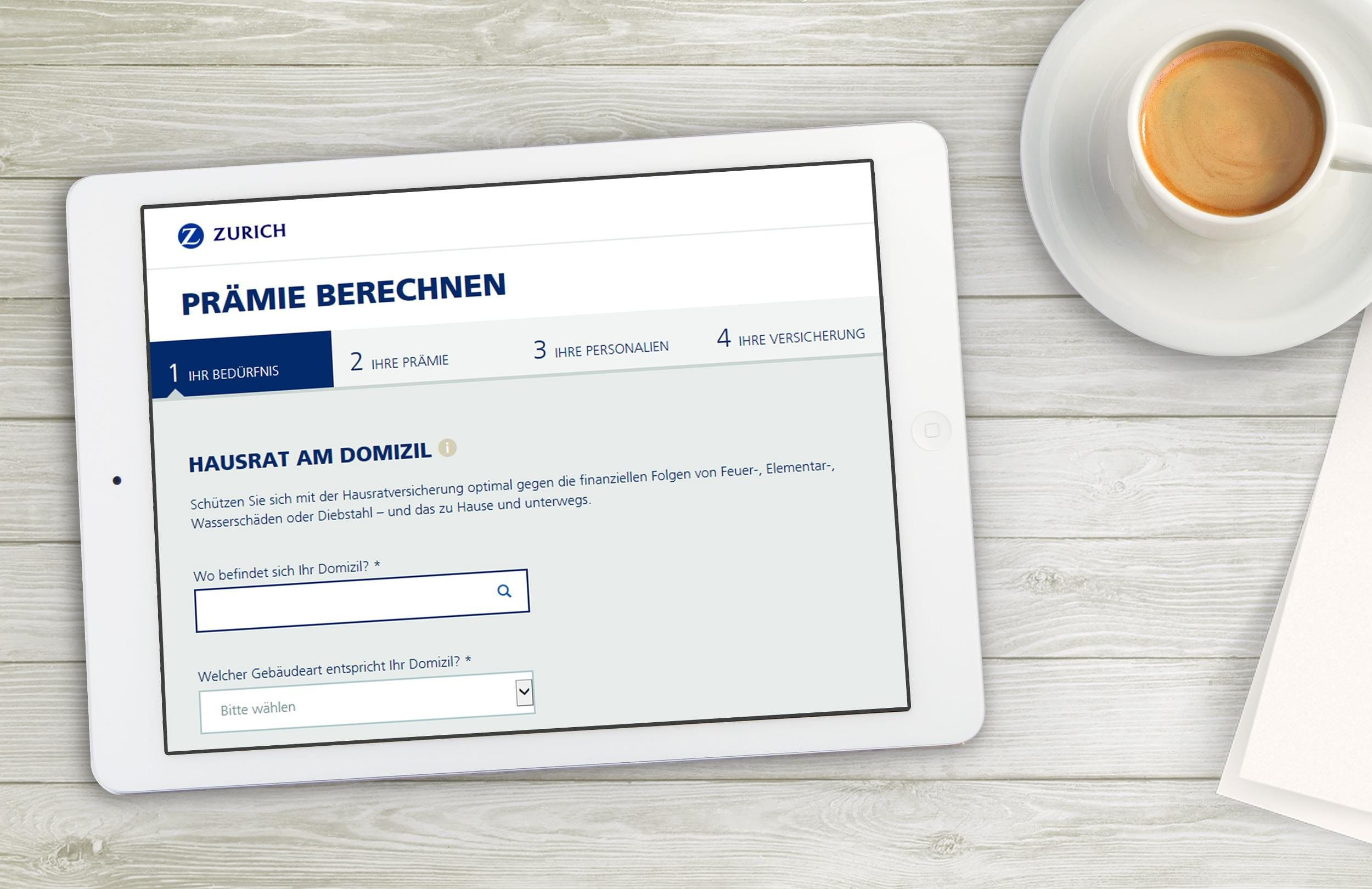 Hausrate Berechnen : hausratversicherung zurich schweiz ~ Themetempest.com Abrechnung